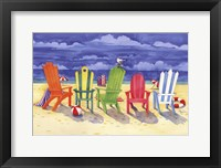 Brighton Chairs Framed Print