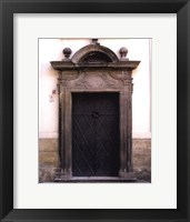 Prague Door I Framed Print