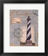 Framed Seacoast Lighthouse I