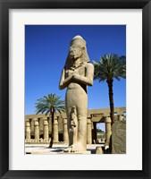Framed Ramses II Statue, Temples Of Karnak, Luxor, Egypt