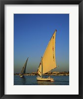 Framed Sailboats sailing in a river, Nile River, Luxor, Egypt