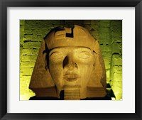 Framed Ramses II statue, Temple of Luxor, Luxor, Egypt