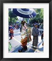 Framed Geisha Parade, Asakusa, Tokyo, Japan