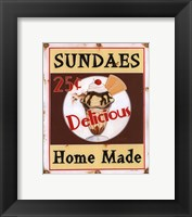 Sundaes Framed Print