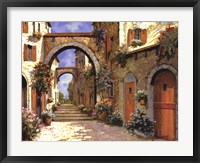 Framed Le Porte Rosse Sulla Strada