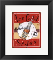 Ice Cold Sodas Framed Print
