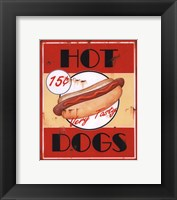 Hot Dogs Framed Print