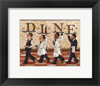 Waiters Dine Framed Print