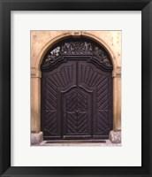 Framed Prague Door III