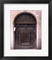 Prague Door IV Framed Print