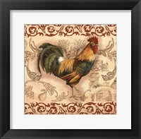 Framed Toile Rooster II