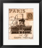 Paris Collage IV Framed Print