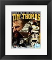 Framed Tim Thomas 2011 NHL Stanley Cup Finals Conn Smythe Winner Portrait Plus