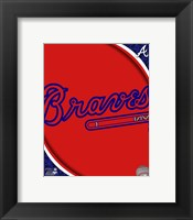 Framed 2011 Atlanta Braves Team Logo