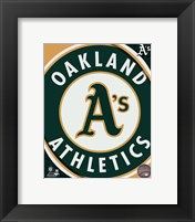 Framed 2011 Oakland A's Team Logo