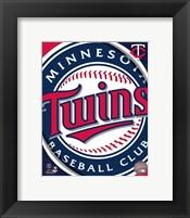 Framed 2011 Minnesota Twins Team Logo