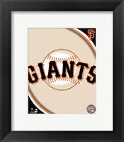 Framed 2011 San Francisco Giants Team Logo