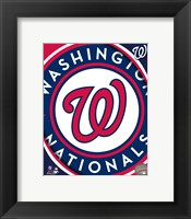 Framed 2011 Washington Nationals Team Logo