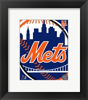 Framed 2011 New York Mets Team Logo