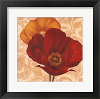 Framed Poppies I