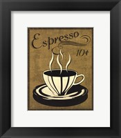 Retro Coffee II Framed Print