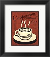 Retro Coffee III Framed Print