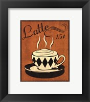 Retro Coffee IV Framed Print
