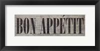 Framed Bon Appétit III