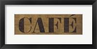 Café III Framed Print
