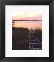 Channel Sunset IV Framed Print