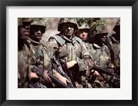 Framed Camouflage U.S. Marines