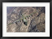 Framed C-130 Cargo Aircraft