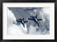 Framed U.S. Navy Blue Angels F-18 Hornets photography