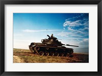 Framed Solider in a military tank