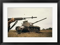 Framed M-14 Rifle M60 Tank