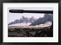 Framed Kuwait: An Oil Field Set  Ablaze