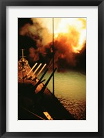 Framed Mark-7 Guns fired from the USS Missouri