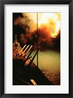 Framed Mark-7 Guns fired from the USS Missouri