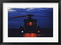 Framed UH-60A Black Hawk Helicopter