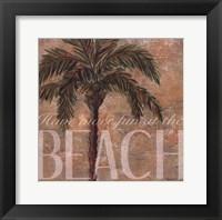 Framed Beach Palm