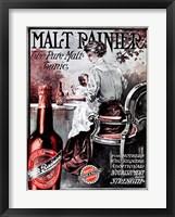 Framed Malt Rainier Beer