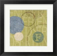 Circle of Words - Friends Framed Print