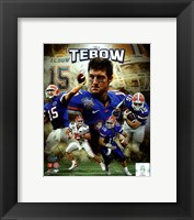 Framed Tim Tebow University of Florida Gators Portrait Plus