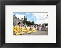 Framed Falun Dafa in Szczecin, Poland August 2007