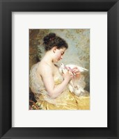 Framed Beauty with Doves