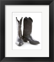 Framed Black Cowboy Boots
