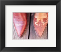 Framed Cowboy Boot Tips