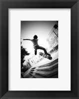 Framed Skateboarding Black And White