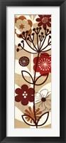 Floral Pop Panel II Framed Print