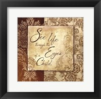 Eyes of a Child Framed Print